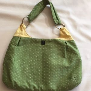 1154 Lill Studio Lime Green Dotted/Yellow Bag